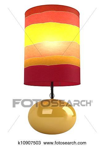 手绘图 颜色, 圆柱形, 灯罩, 同时,, 基于 k10907503 抽象图像及图片