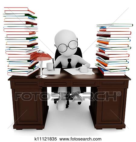 Schreibtisch clipart  Drawings of Man at a neat desk k0443834 - Search Clip Art ...