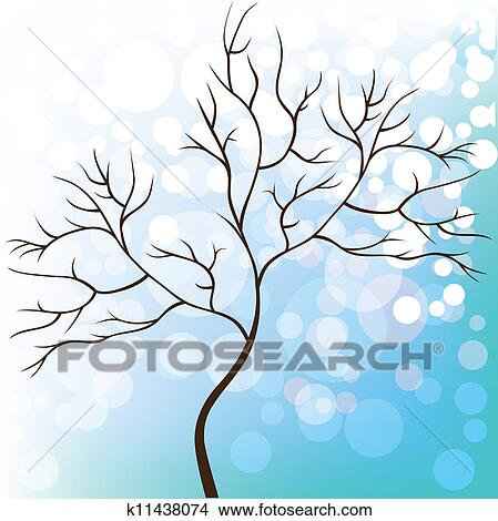 clipart baum ohne bl tter winterbilder k11438074 suche clip art illustration wandbilder. Black Bedroom Furniture Sets. Home Design Ideas
