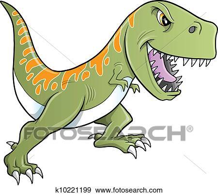 Klip Art Kabadayi Tyrannosaurus Dinozor Vector K10221199
