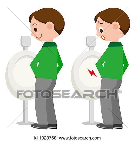 Stock Illustration Karikatur Zeichen Auf Toilette K11028768