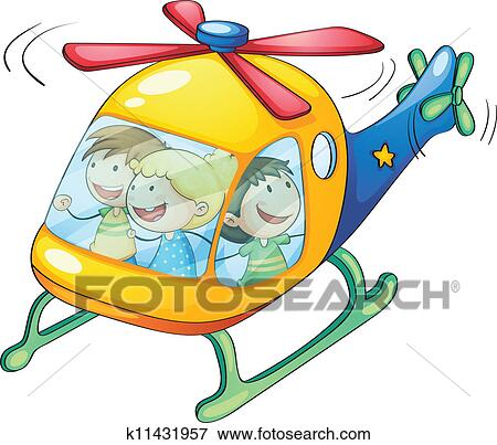 clip art of kids in a helicopter k11431957 search clipart rh fotosearch com clipart helicopter clipart helicoptero