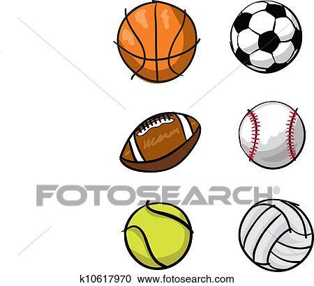 clipart of kids sports balls k10617970 search clip art rh fotosearch com Academic Clip Art Cowboy Clip Art