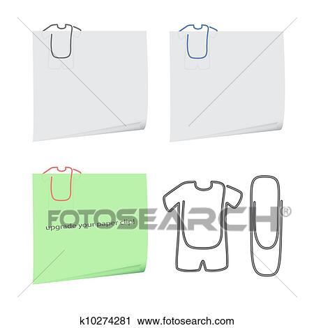 Clipart Kleidung Büroklammer K10274281 Suche Clip Art