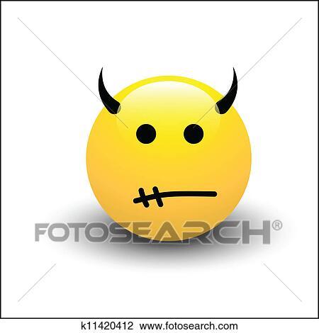 Clipart Lachender Smiley K11420412 Suche Clip Art Illustration