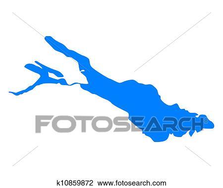 clipart landkarte von bodensee k10859872 suche clip