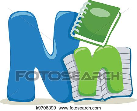 clip art of letter n k9706399 search clipart illustration posters rh fotosearch com ncl partners first program ncl partial payments