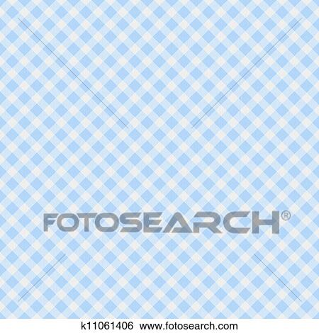 Stock Images Of Light Blue Gingham Fabric Background K11061406