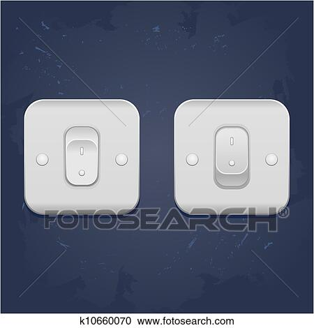 Clipart Of Light Switch Vector K10660070 Search Clip Art