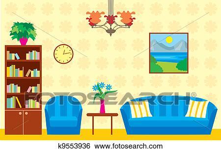 Living Room Clip Art K9553936 Fotosearch