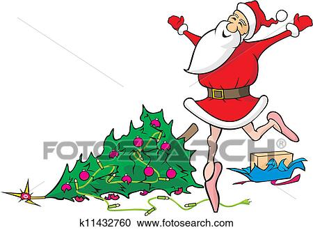 Christmas Dancing Santa.Lost In Dancing Santa Claus Clipart