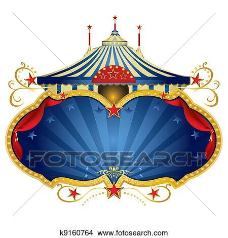 Magic Blue Circus Frame Clipart K9160764 Fotosearch