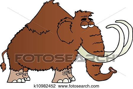 Mammouth, dessin animé, caractère Clipart | k10982452 ...