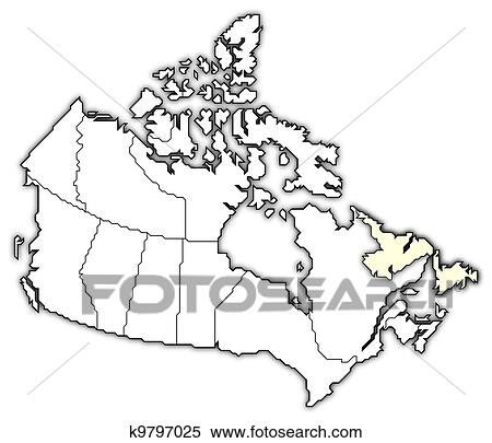 stock image of map of canada newfoundland and labrador highlighted Queen Charlotte Islands Map stock image map of canada newfoundland and labrador highlighted fotosearch search stock