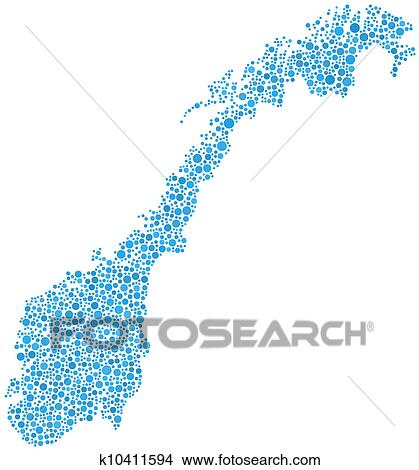 Norway On Europe Map.Clipart Of Map Of Norway Europe K10411594 Search Clip Art
