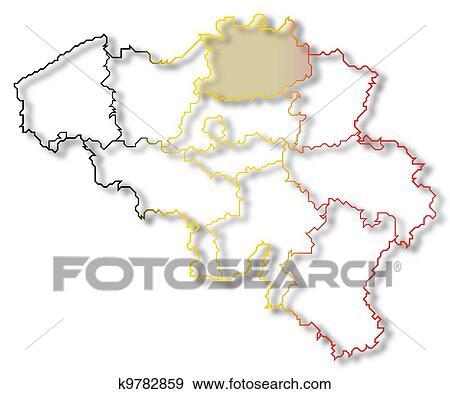 Mapa De Belgica Antuerpia Destacado Arquivos De Ilustracao