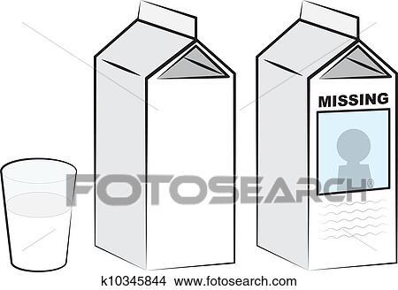 Clipart Of Milk Cartons K10345844