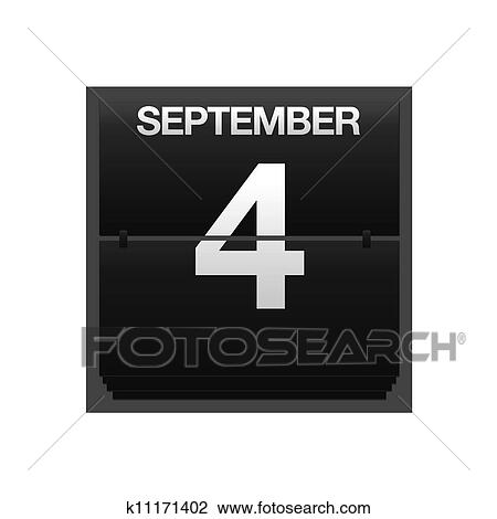 Calendario Dibujo Septiembre.Mostrador Calendario Septiembre 4 Dibujo