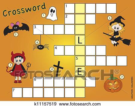 Mots Croisés Halloween Banque D Illustrations