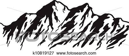 clip art of mountain range k10819127 search clipart illustration rh fotosearch com mountain range clipart free Mountain Clip Art