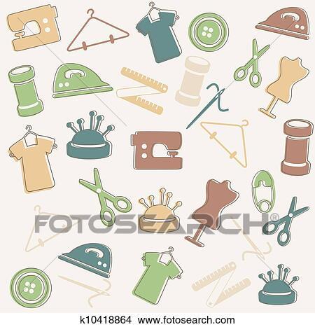Clipart - nähen muster k10418864 - Suche Clip Art, Illustration ...