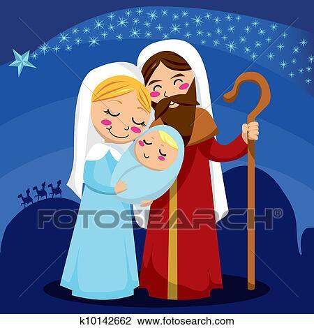 Nativity Scene Clipart | k10142662 | Fotosearch