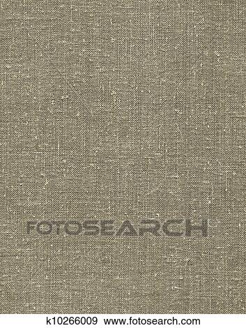 Natural Vintage Linen Burlap Textured Fabric Texture Detailed Old Grunge Rustic Background In Tan Beige Yellowish Grey Copy Space