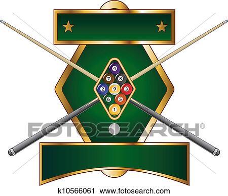 Clipart Of Nine Ball Emblem Design K10566061