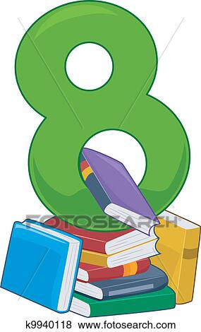 clip art of number 8 k9940118 search clipart illustration posters rh fotosearch com pink number 8 clipart Number 5 Clip Art