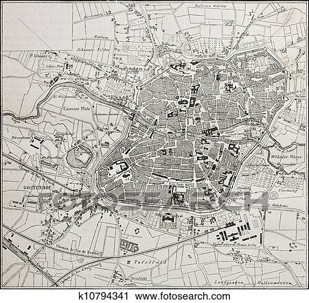 Clipart of Nuremberg map k10794341 - Search Clip Art, Illustration ...
