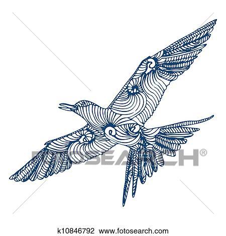 Dessin Oiseau Mouche clipart - oiseau, mouche k10846792 - recherchez des clip arts, des