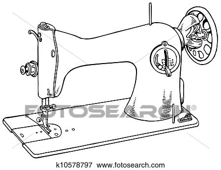 Old Sewing Machine Clip Art