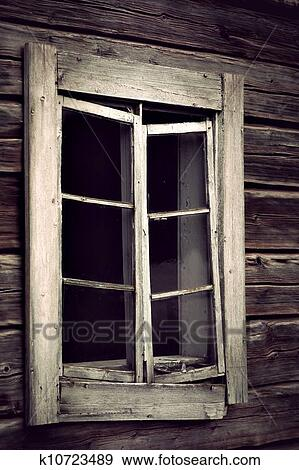 Old Window Frame Stock Photo K10723489 Fotosearch
