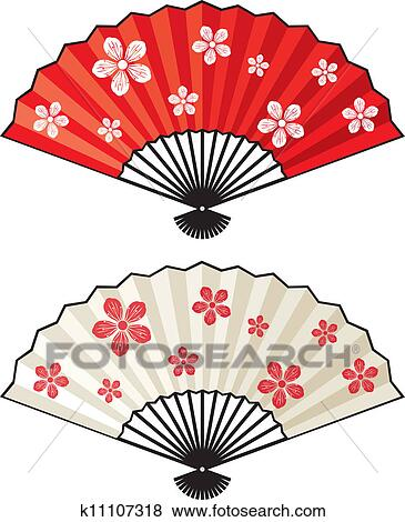 clip art of oriental fan k11107318 search clipart illustration rh fotosearch com clipart fantastique clipart fancy short dresses