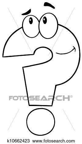 Clipart Of Outlined Question Mark K10662423