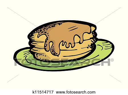 clip art of pancake k11514717 search clipart illustration posters rh fotosearch com pancake clip art breakfast pancake clipart free