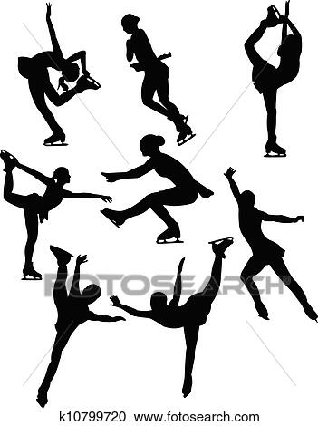 Pattinaggio Silhouette Clipart K10799720 Fotosearch