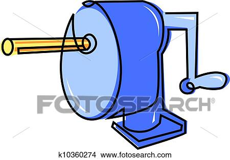 drawings of pencil sharpener k10360274 search clip art rh fotosearch com Eraser Clip Art pencil sharpener clipart black and white