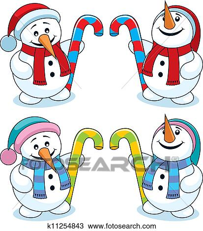 Peu bonhomme de neige clipart k11254843 fotosearch - Clipart bonhomme de neige ...