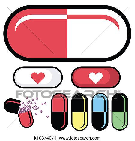 clipart of pharmaceutical pill vector k10374071 search clip art rh fotosearch com pill box clipart pill clipart black and white