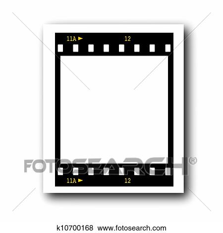 Stock Illustration of photo with blank film strip frame k10700168 ...