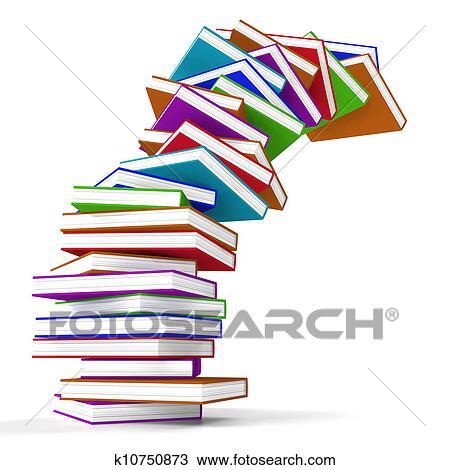 Pile De Colore Tomber Livres Represente Apprentissage Et Education Dessin