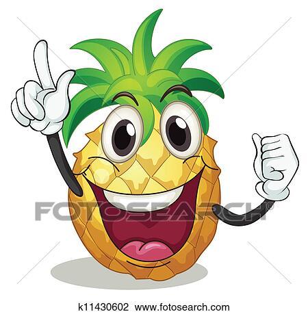 Pineapple Clipart   k11430602   Fotosearch