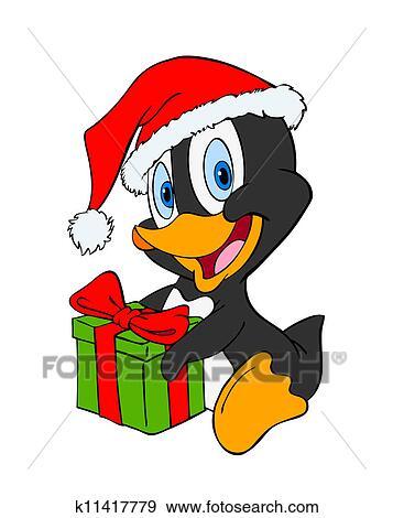 stock illustration pinguin weihnachten k11417779. Black Bedroom Furniture Sets. Home Design Ideas