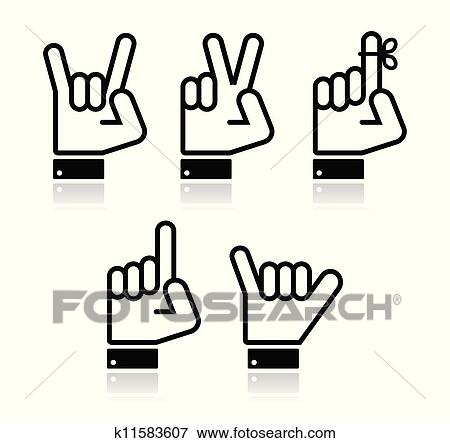 pointing hand icon vector clip art k11583607 fotosearch https www fotosearch com csp990 k11583607