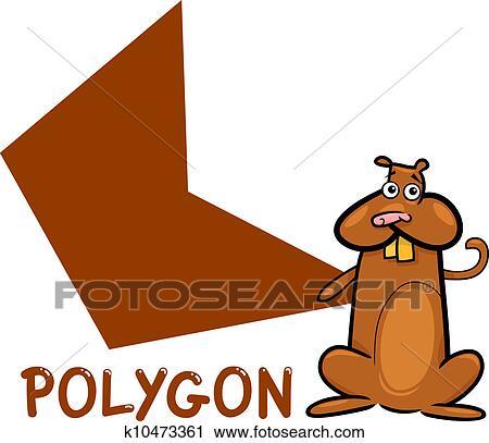 Clipart Polygone Forme à Dessin Animé Hamster K10473361