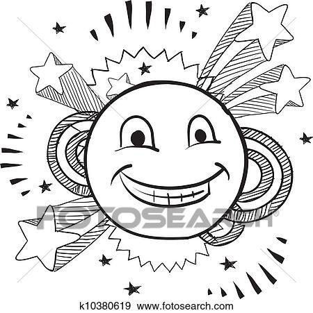 Clip Art Of Pop Smiley Face Vector K10380619