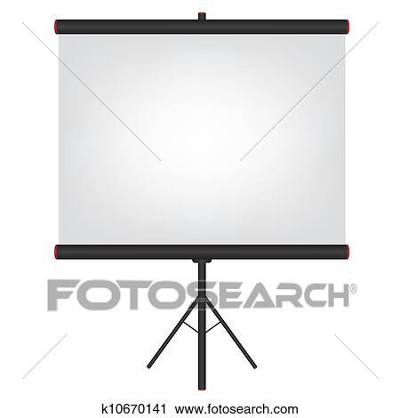 clipart of projector screen black illustration k10670141 search rh fotosearch com video projector clipart film projector clipart free
