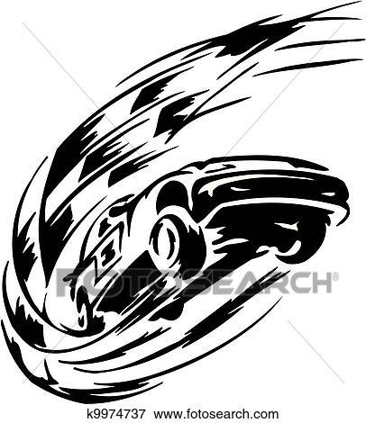 Clip Art Of Race Car