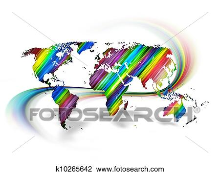 Clip art of rainbow world map k10265642 search clipart clip art rainbow world map fotosearch search clipart illustration posters drawings gumiabroncs Gallery